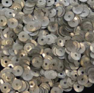 5mm Satin (Matt) Silver Semi-Cupped Round Sequins 12.5g